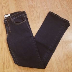 Abercrombie & Fitch 8R dark blue boot cut jeans